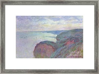 Cliffs Near Dieppe, 1897 Framed Print by Claude Monet