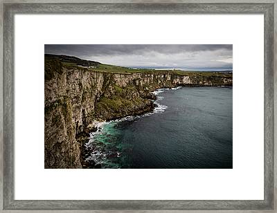 Cliffs Near Larrybane Framed Print