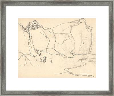 Cliffs Near Pourville-varengeville Framed Print