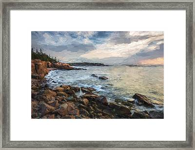 Cliffs Of Acadia II Framed Print by Jon Glaser