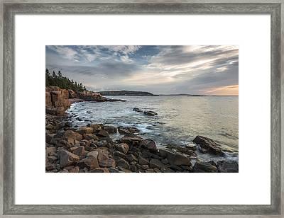 Cliffs Of Acadia Framed Print by Jon Glaser