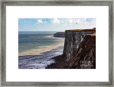 Framed Print featuring the photograph Cliffs Of Bempton by Anthony Baatz