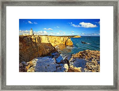 Cliffs Of Cabo Rojo At Sunset Framed Print