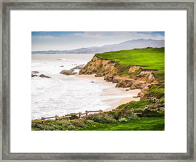 The Cliffs At Half Moon Bay Framed Print