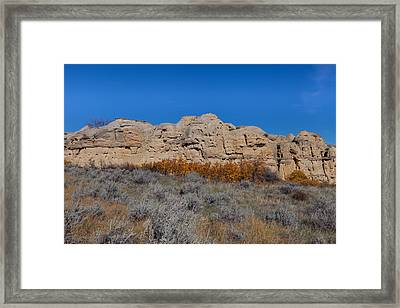 Framed Print featuring the photograph Cliffs Of Hoodoos by Fran Riley