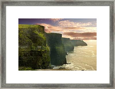 Cliffs Of Moher - 2 Framed Print by Robert Lacy