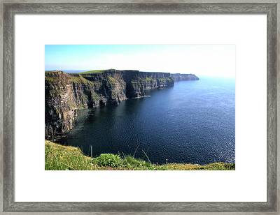 Cliffs Of Moher Framed Print by Catherine Alfidi