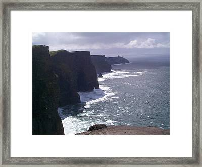 Cliffs Of Moher Framed Print by Charles Kraus