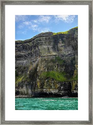 Framed Print featuring the photograph Cliffs Of Moher From The Sea Close Up by RicardMN Photography