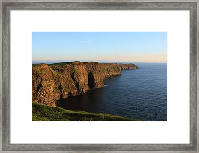 Cliffs Of Moher In County Clare At Sunset Framed Print by Aidan Moran