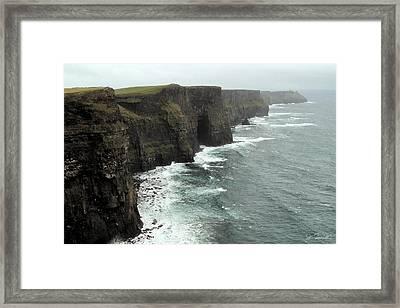 Cliffs Of Moher Framed Print by Joe Bonita