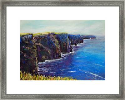 Cliffs Of Moher Framed Print by Joyce A Guariglia