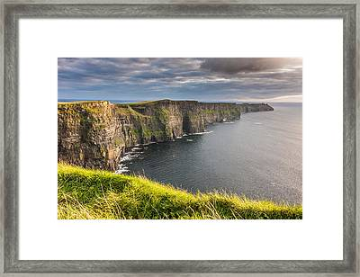 Cliffs Of Moher On The West Coast Of Ireland Framed Print