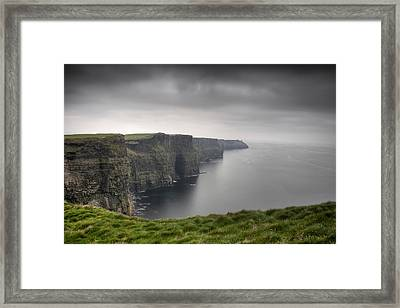 Cliffs Of Moher Framed Print by Tim Drivas