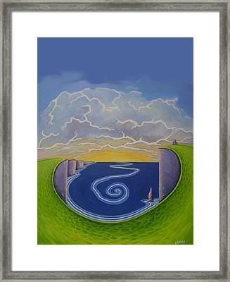 Cliffs Of Moher Vortex Framed Print by Eamon Doyle