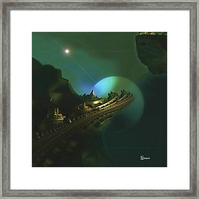 Cliffs Of Tarsa Framed Print by Julie Grace