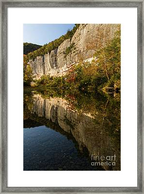 Cliffs On The Buffalo River Framed Print