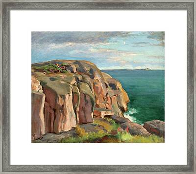 Cliffs On The Shore Of Kaivopuisto Framed Print by Eero Jarnefelt