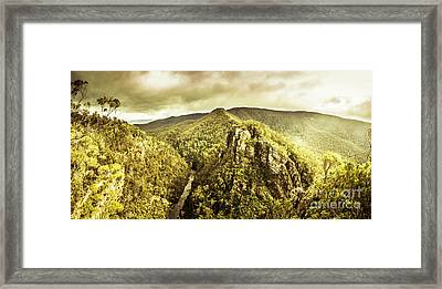 Cliffs, Steams And Valleys Framed Print