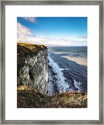 Framed Print featuring the photograph Cliffside View by Anthony Baatz