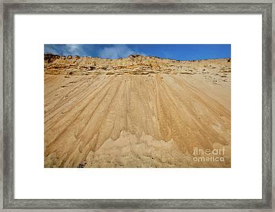 Framed Print featuring the photograph Cliffward by Susan Cole Kelly