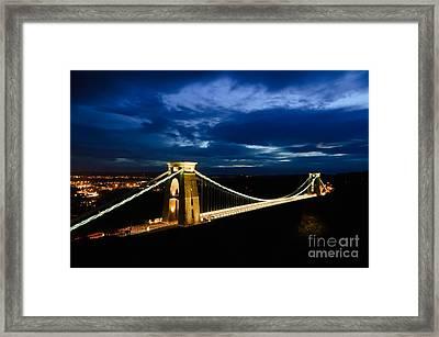 Clifton Suspension Bridge, Bristol. Framed Print by Colin Rayner