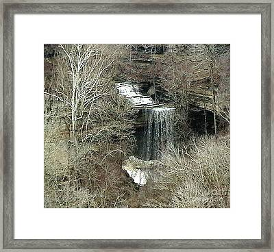 Clifty Falls - Late Fall In Indiana Framed Print