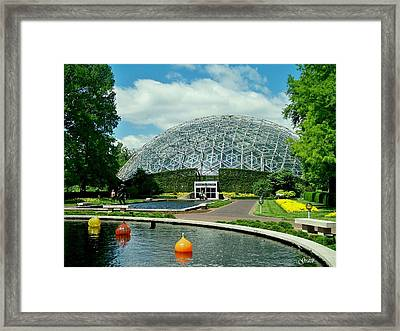 Climatron Dome Framed Print by Julie Grace