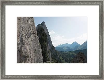 Climb All Those Peaks Framed Print