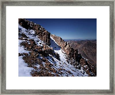 Framed Print featuring the photograph Climb That Mountain by Jim Hill
