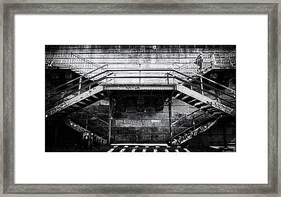 Climb The Stairs Framed Print