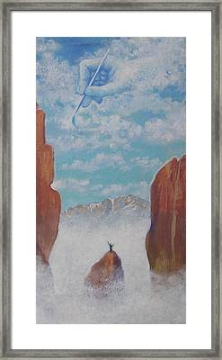 Climb To The Heavens Framed Print by Marjorie Hause