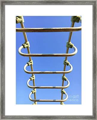 Climbing Frame Details Framed Print