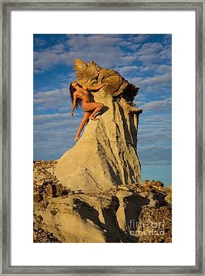 Climbing Framed Print by Inge Johnsson