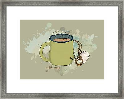 Climbing Mt Cocoa Illustrated Framed Print by Heather Applegate