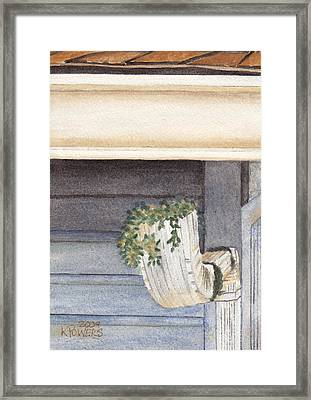 Climbing Out Of The Gutter Framed Print