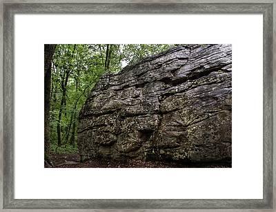 Climbing Rock Framed Print