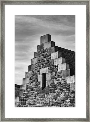 Climbing The Castle Framed Print