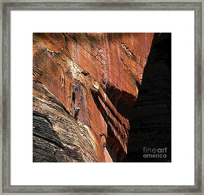 Climbing The Great Arch Framed Print by David Lee Thompson