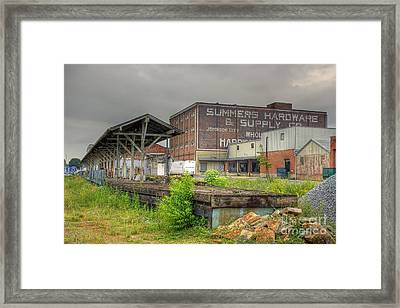 Clinchfield Train Station Platform Framed Print