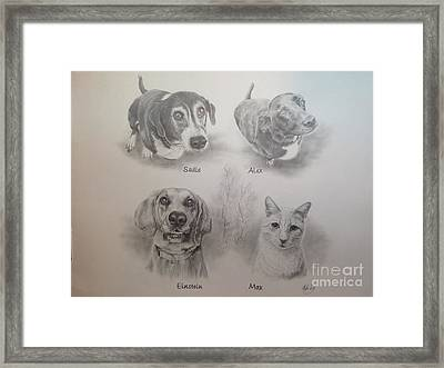 Cline Pets Framed Print