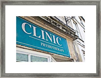 Clinic Sign Framed Print