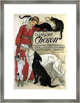 Clinique Cheron - Vintage Clinic Advertising Poster Framed Print
