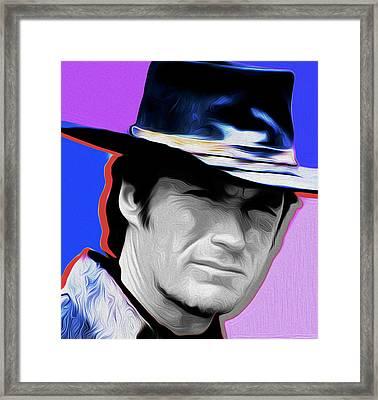 Clint Eastwood #21a By Nixo Framed Print by Nicholas Nixo
