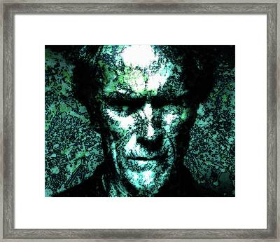 Clint Eastwood 2a Framed Print