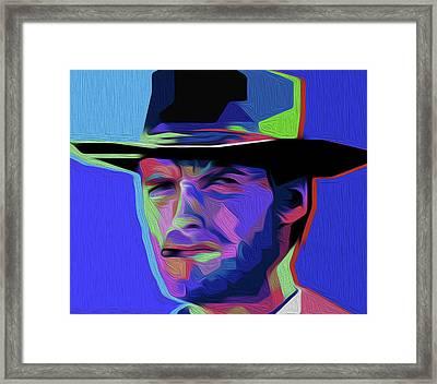 Clint Eastwood 303 By Nixo Framed Print by Nicholas Nixo