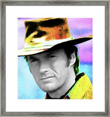 Clint Eastwood 33a By Nixo Framed Print by Nicholas Nixo
