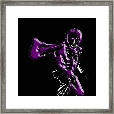 Clint Eastwood 3c Framed Print by Brian Reaves