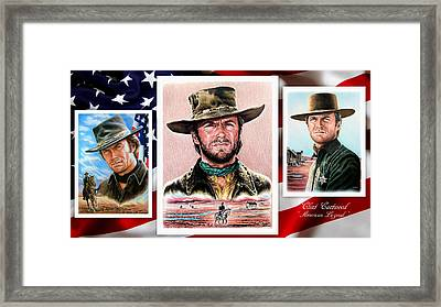 Clint Eastwood American Legend 2nd Ver Framed Print