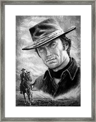 Clint Eastwood American Legend Wf Edit Framed Print